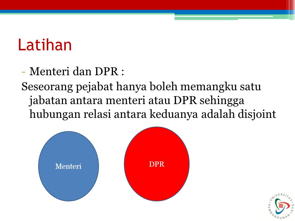 Latihan Menteri dan DPR :