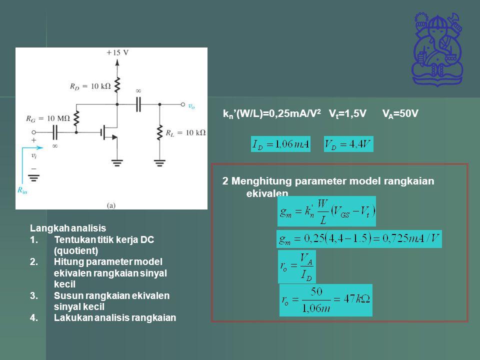 2 Menghitung parameter model rangkaian ekivalen