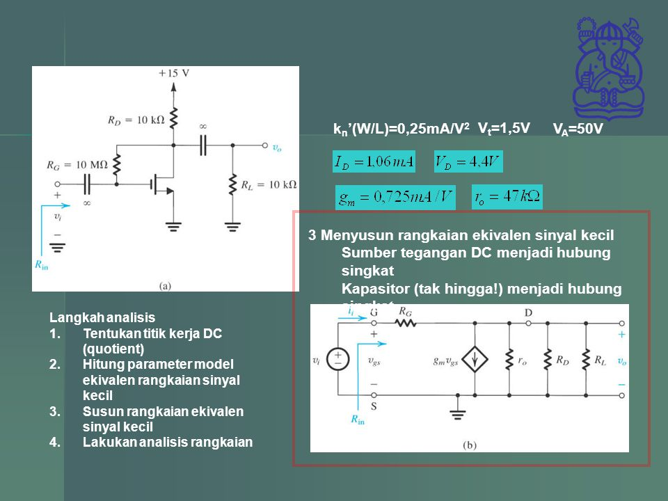 3 Menyusun rangkaian ekivalen sinyal kecil