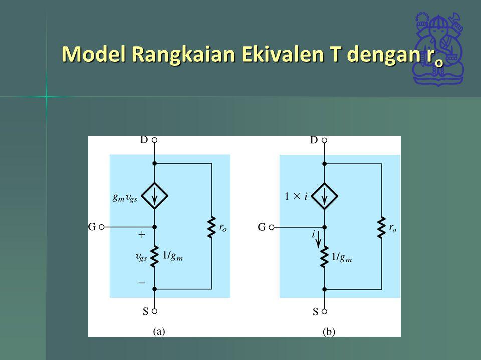 Model Rangkaian Ekivalen T dengan ro