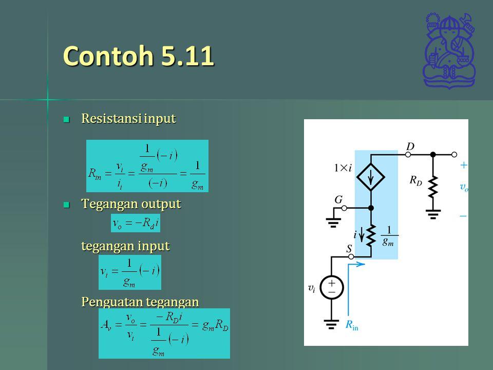 Contoh 5.11 Resistansi input