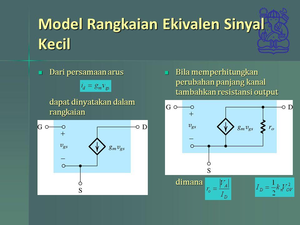 Model Rangkaian Ekivalen Sinyal Kecil