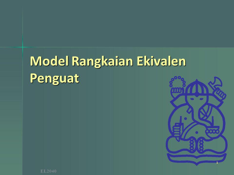 Model Rangkaian Ekivalen Penguat