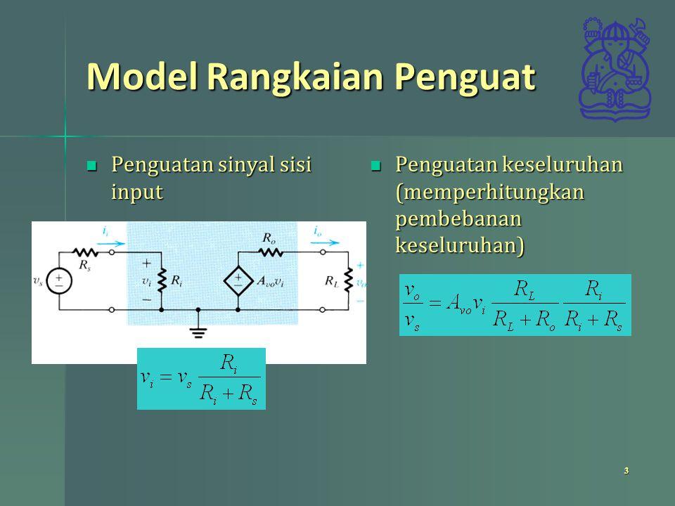 Model Rangkaian Penguat