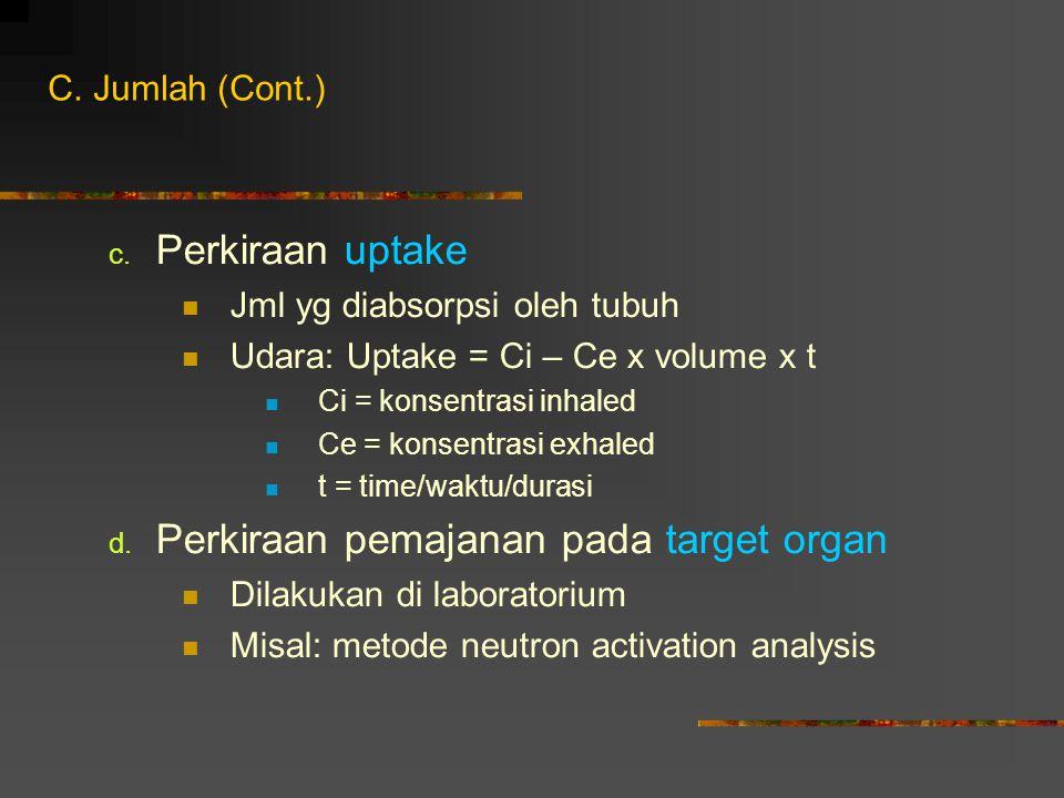Perkiraan pemajanan pada target organ