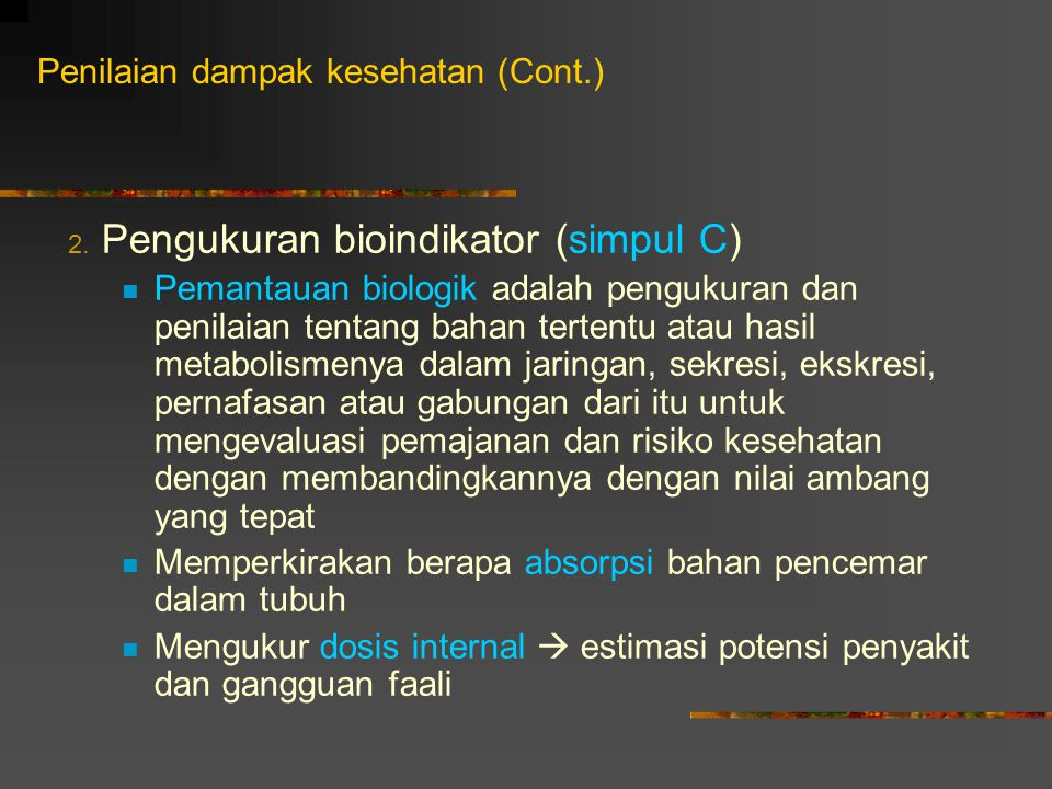 Penilaian dampak kesehatan (Cont.)