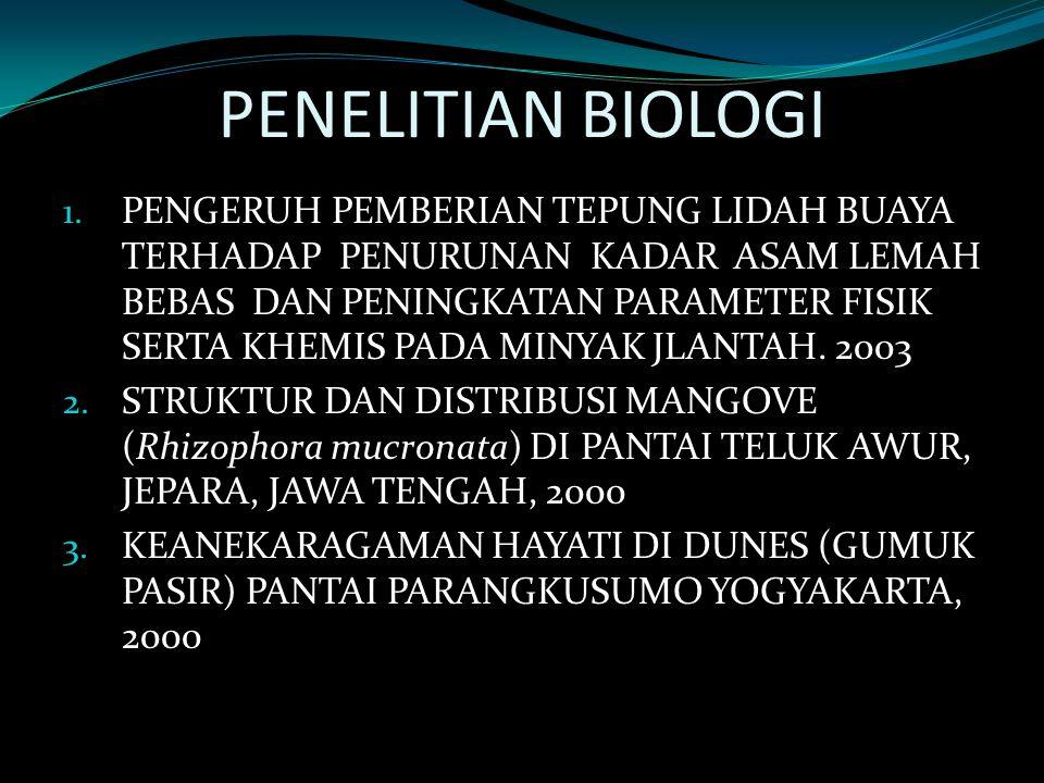 PENELITIAN BIOLOGI
