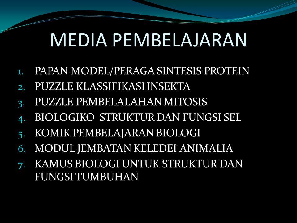 MEDIA PEMBELAJARAN PAPAN MODEL/PERAGA SINTESIS PROTEIN