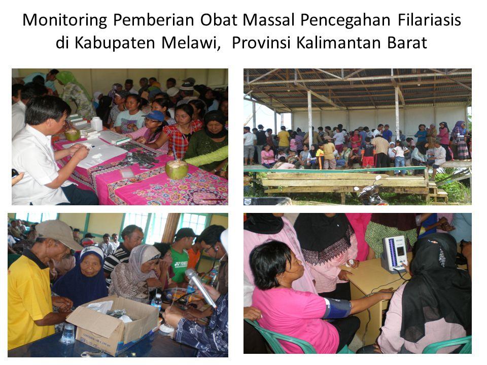 Monitoring Pemberian Obat Massal Pencegahan Filariasis di Kabupaten Melawi, Provinsi Kalimantan Barat