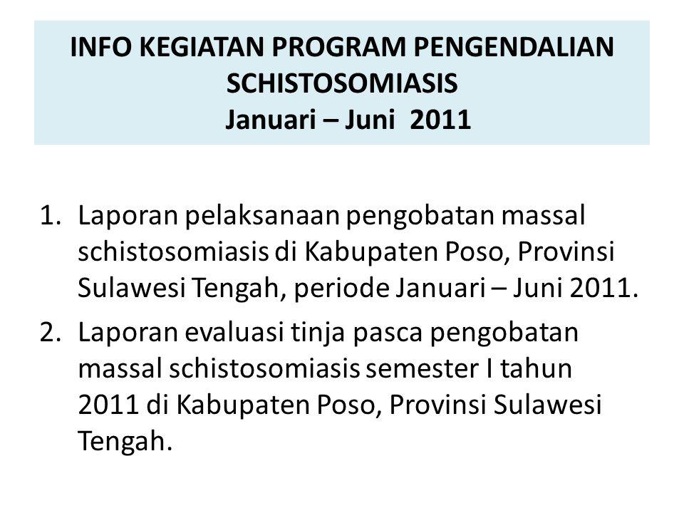 INFO KEGIATAN PROGRAM PENGENDALIAN SCHISTOSOMIASIS Januari – Juni 2011