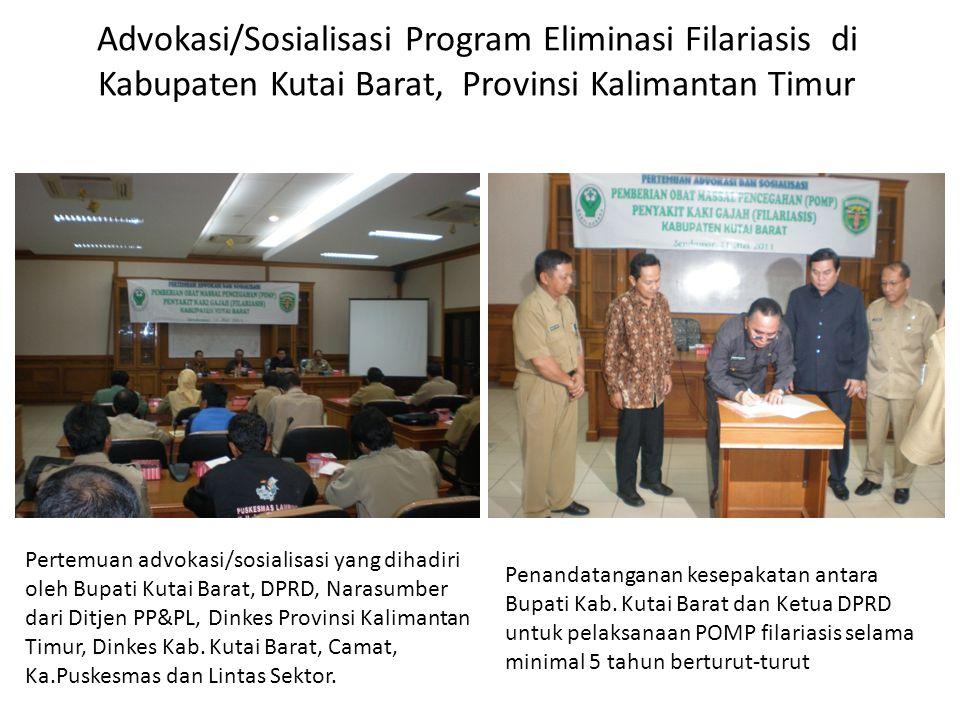 Advokasi/Sosialisasi Program Eliminasi Filariasis di Kabupaten Kutai Barat, Provinsi Kalimantan Timur