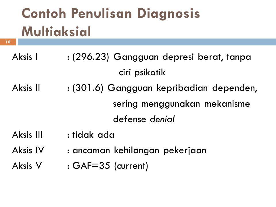 Contoh Penulisan Diagnosis Multiaksial