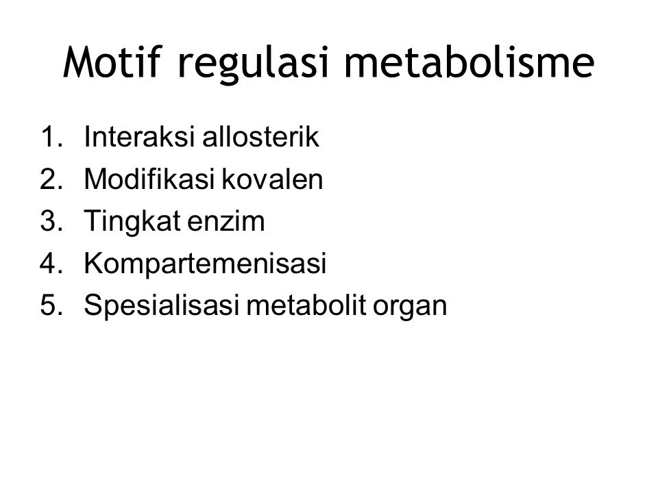 Motif regulasi metabolisme
