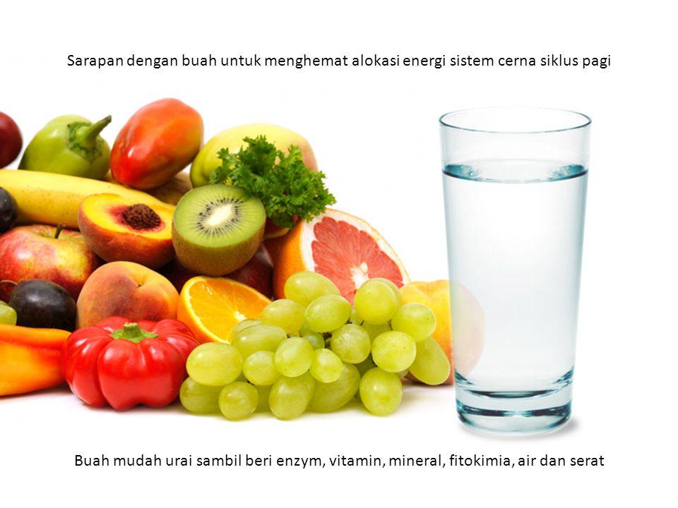 Sarapan dengan buah untuk menghemat alokasi energi sistem cerna siklus pagi
