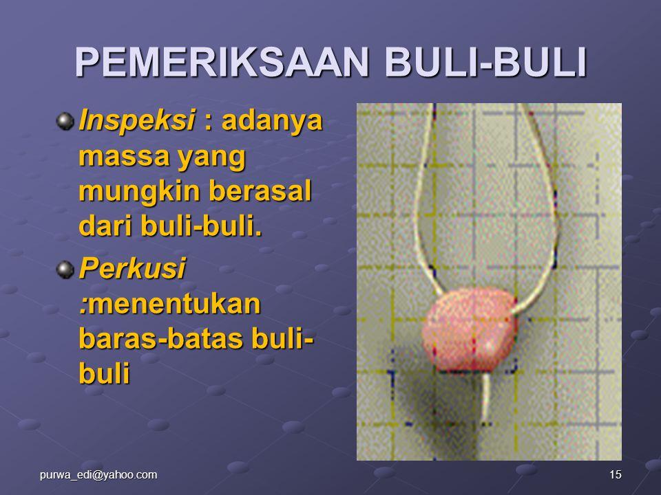 PEMERIKSAAN BULI-BULI