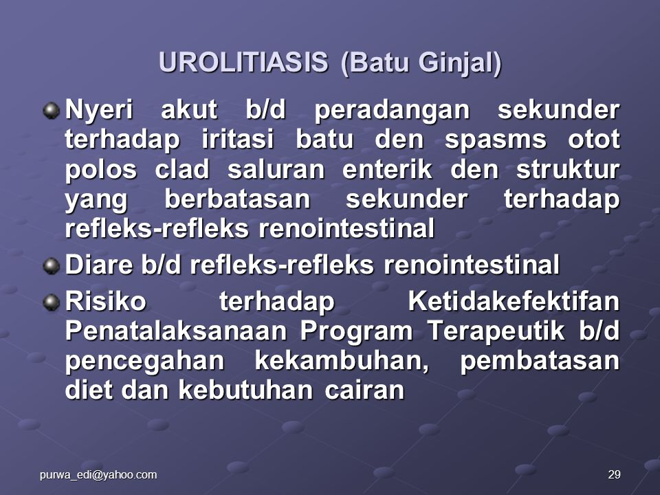 UROLITIASIS (Batu Ginjal)