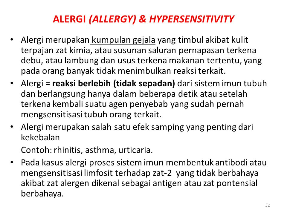 ALERGI (ALLERGY) & HYPERSENSITIVITY