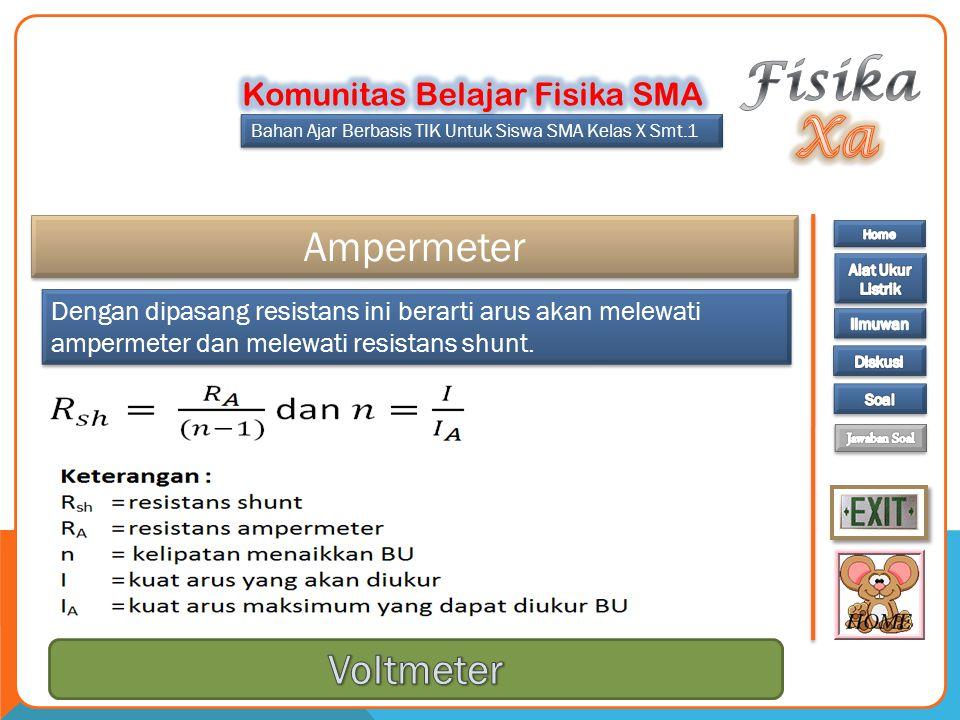 Fisika Xa Ampermeter Voltmeter Komunitas Belajar Fisika SMA
