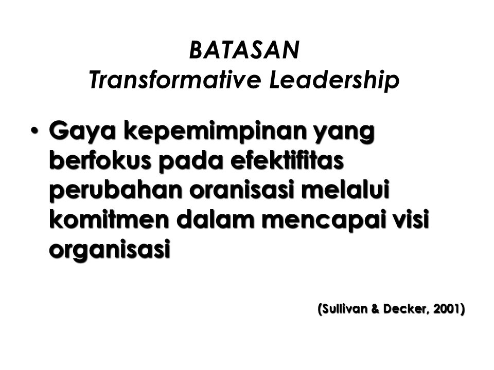 BATASAN Transformative Leadership