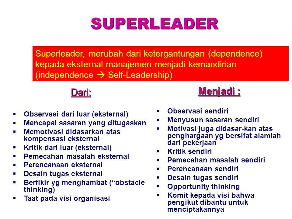 SUPERLEADER Menjadi : Dari: