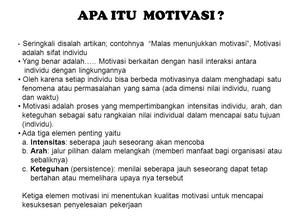APA ITU MOTIVASI adalah sifat individu