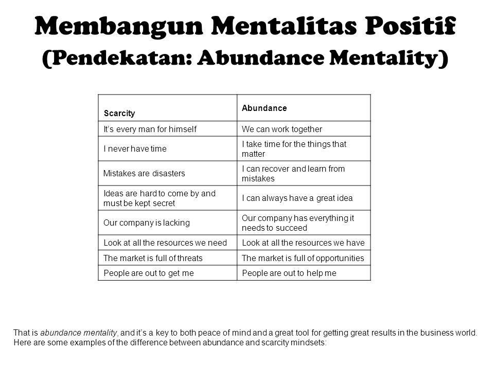 Membangun Mentalitas Positif