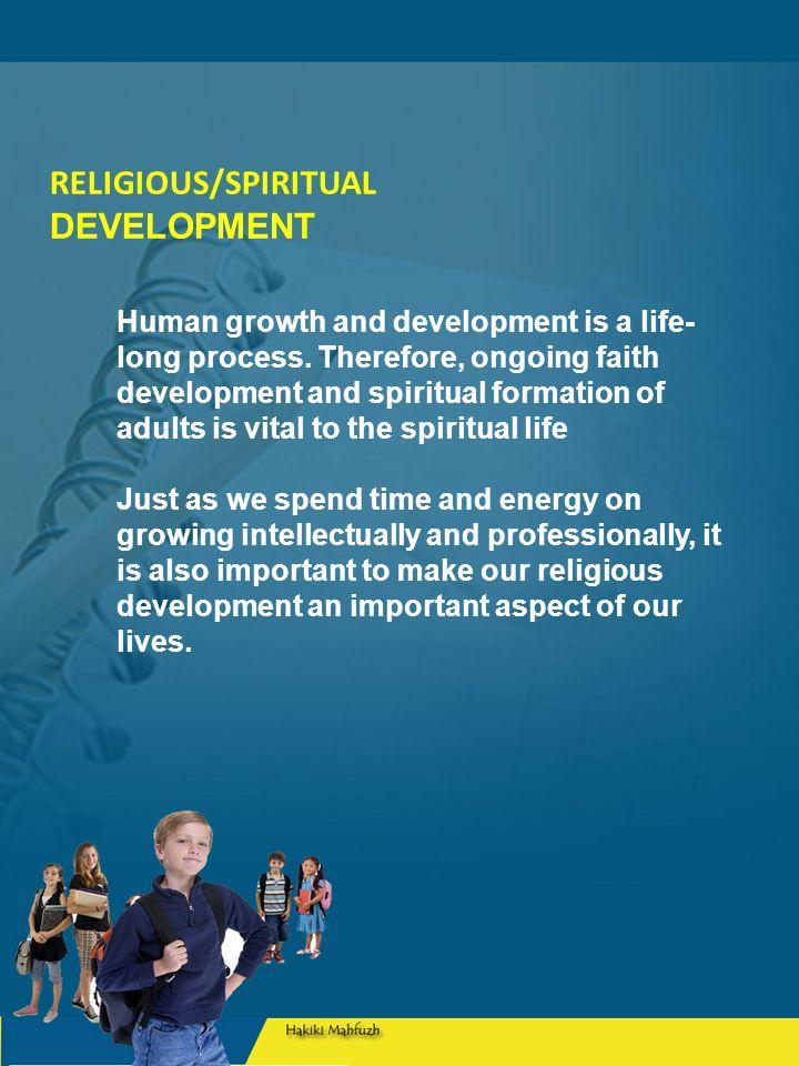 RELIGIOUS/SPIRITUAL DEVELOPMENT