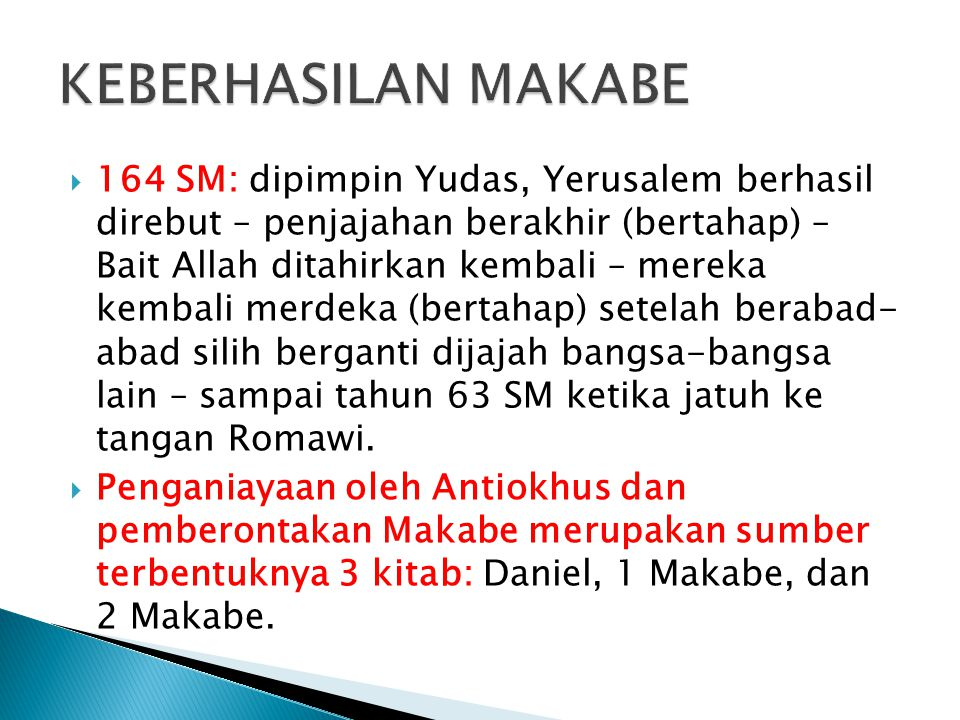 KEBERHASILAN MAKABE