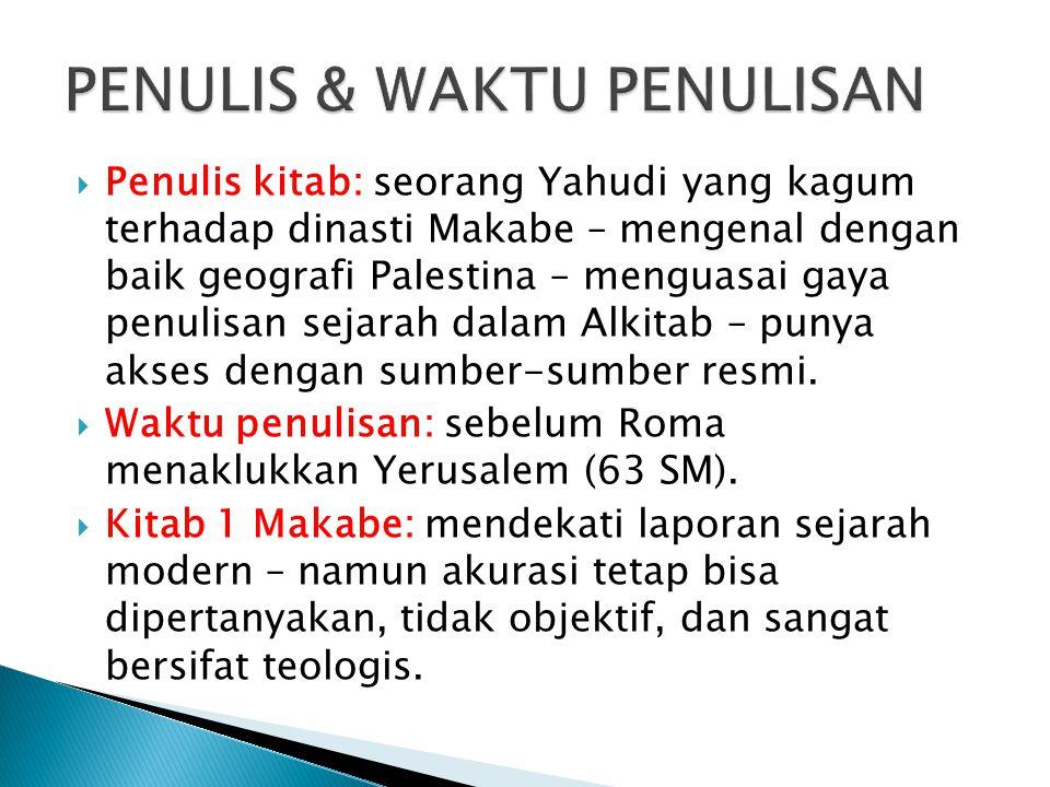 PENULIS & WAKTU PENULISAN