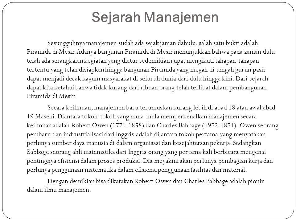 Sejarah Manajemen