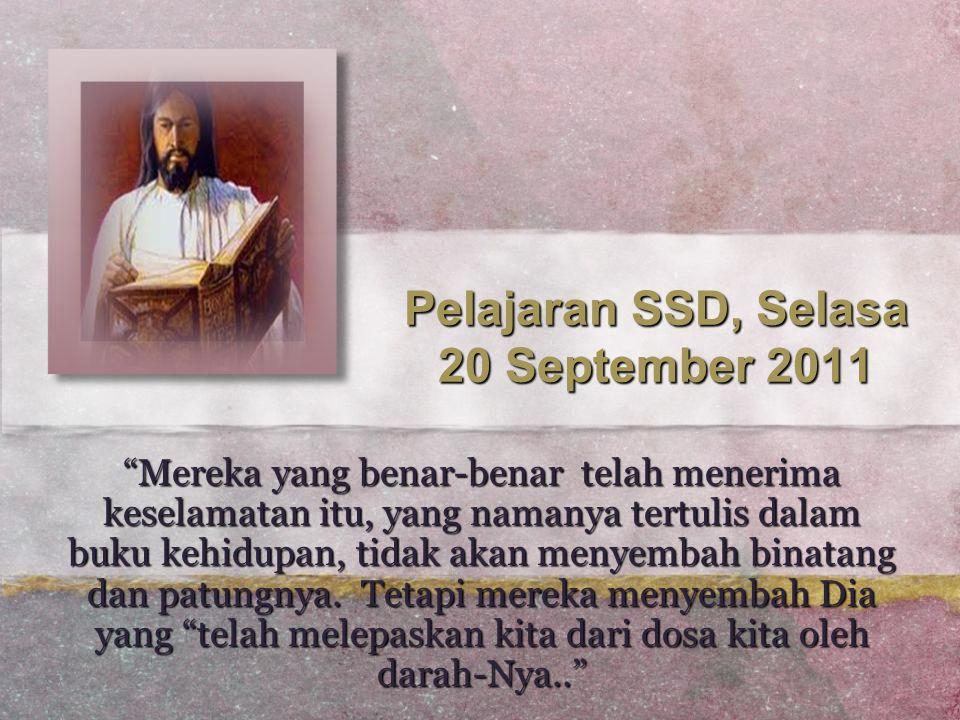 Pelajaran SSD, Selasa 20 September 2011