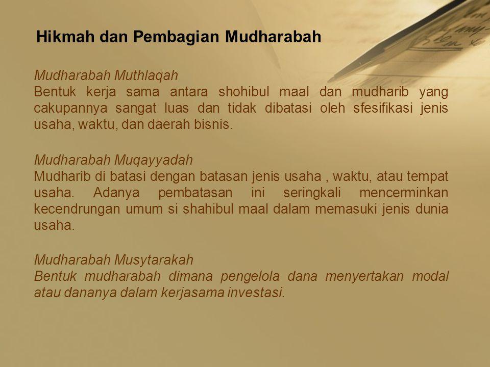 Hikmah dan Pembagian Mudharabah
