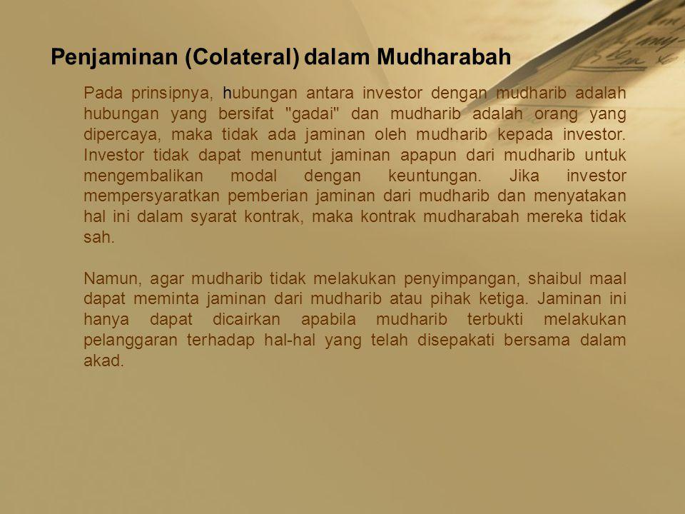 Penjaminan (Colateral) dalam Mudharabah