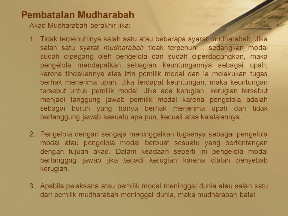 Pembatalan Mudharabah