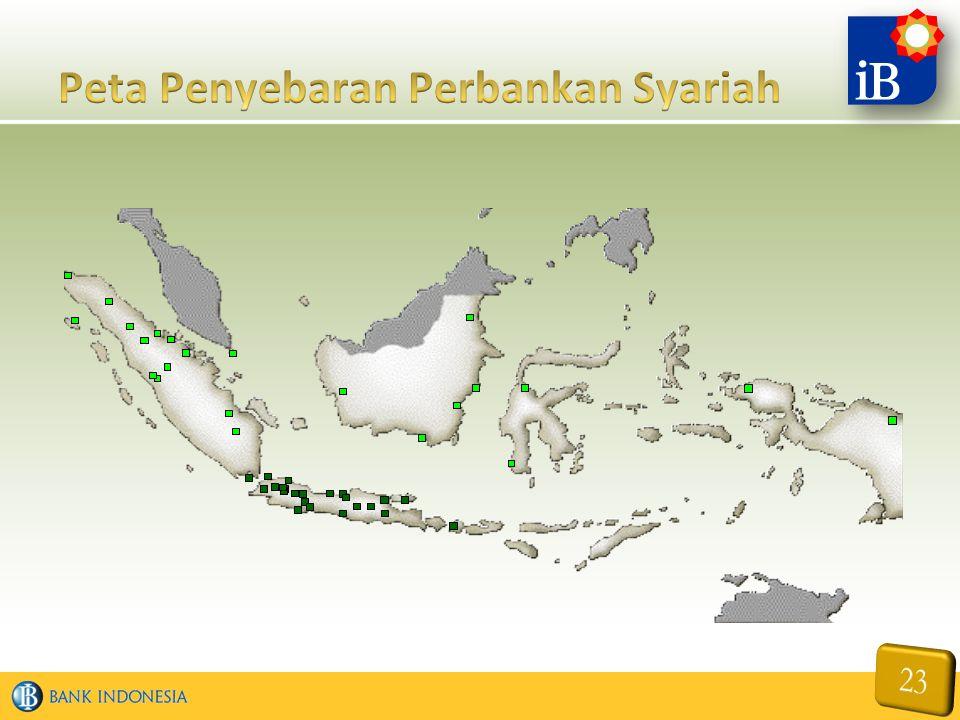 Peta Penyebaran Perbankan Syariah
