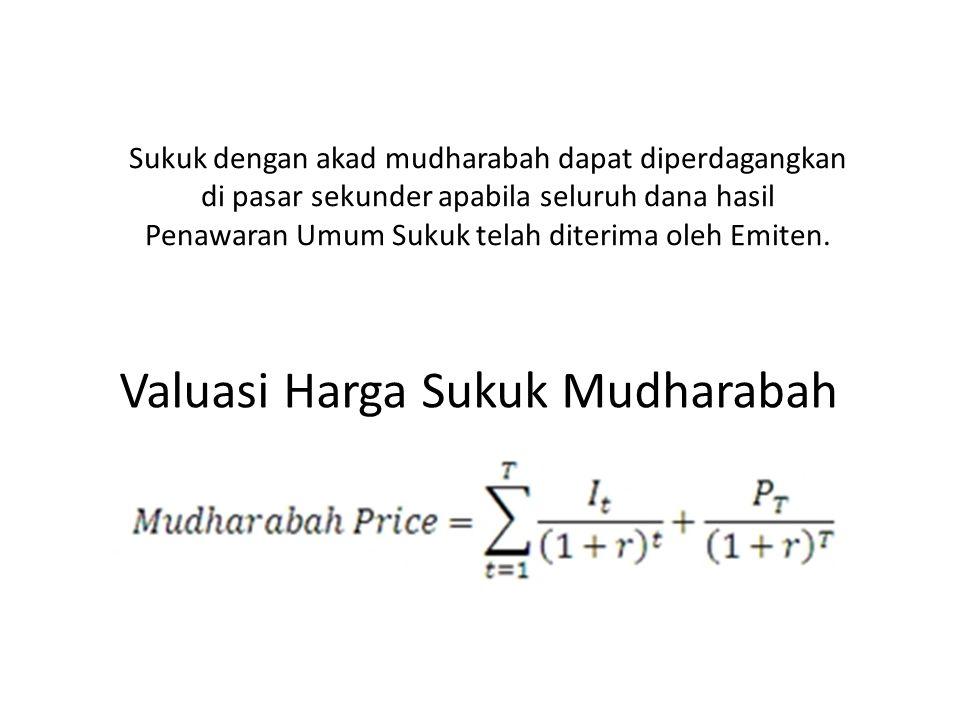 Valuasi Harga Sukuk Mudharabah