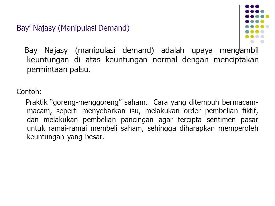 Bay' Najasy (Manipulasi Demand)