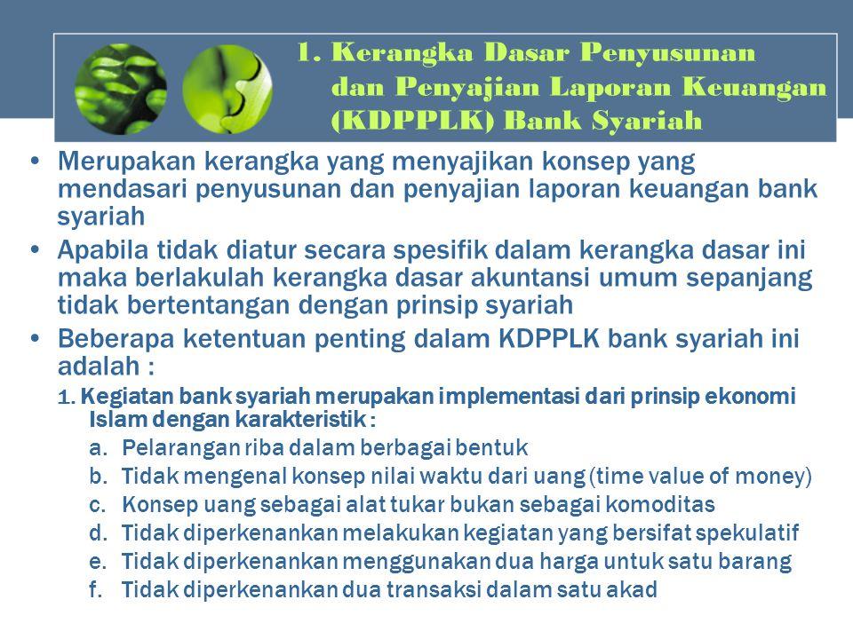 Beberapa ketentuan penting dalam KDPPLK bank syariah ini adalah :