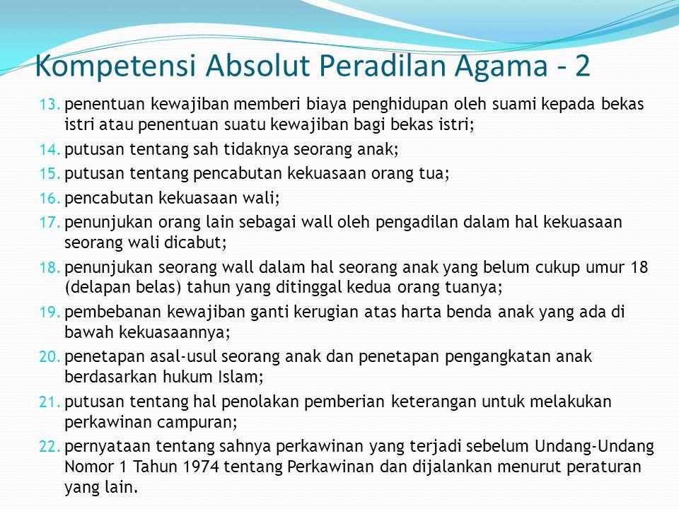 Kompetensi Absolut Peradilan Agama - 2