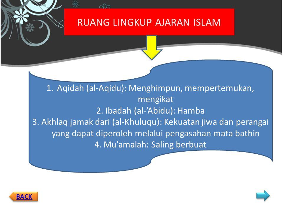 RUANG LINGKUP AJARAN ISLAM