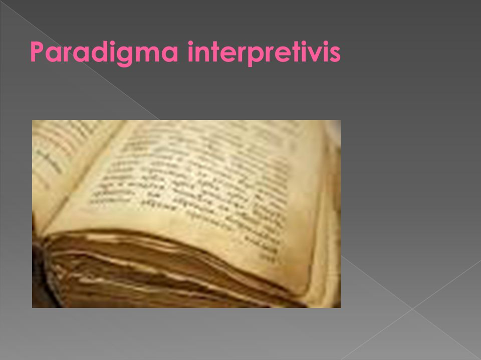 Paradigma interpretivis
