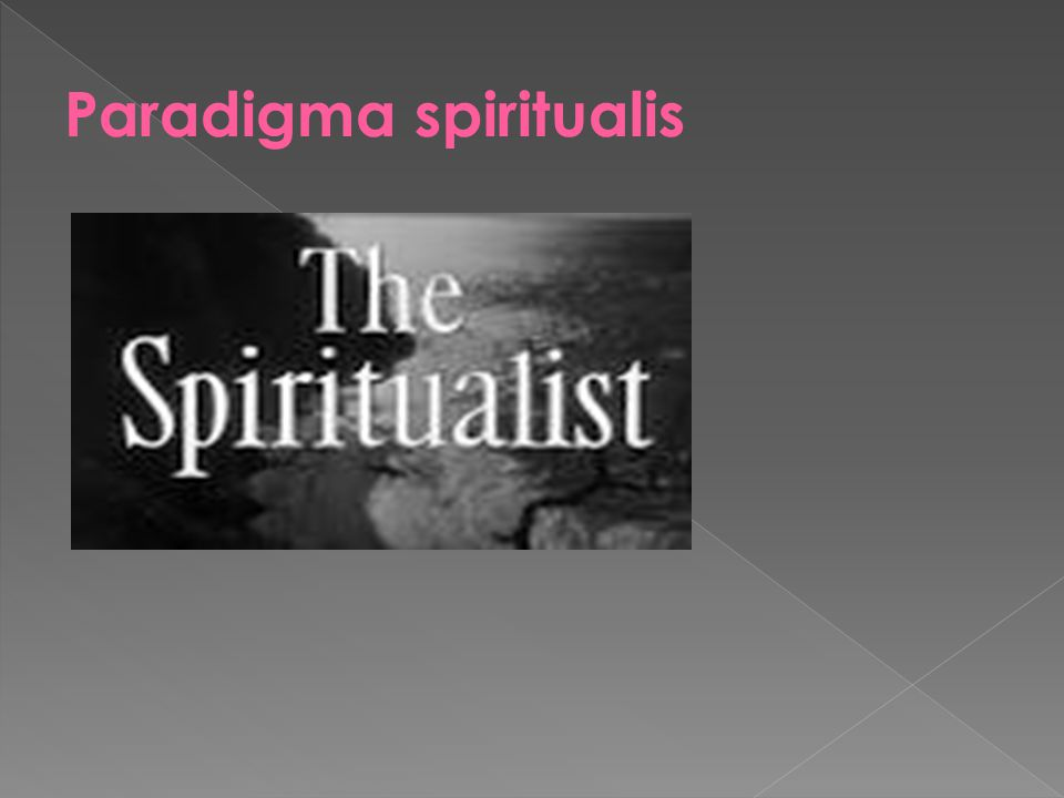 Paradigma spiritualis
