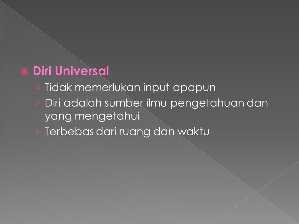 Diri Universal Tidak memerlukan input apapun