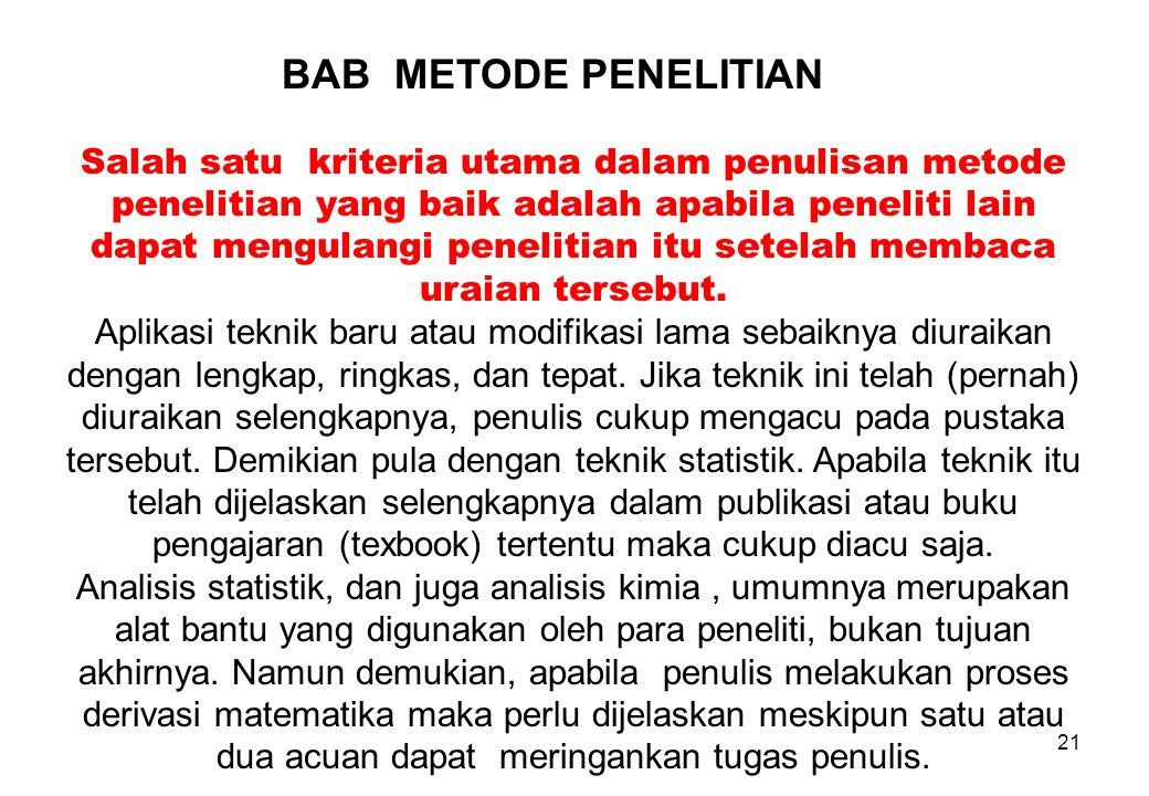 BAB METODE PENELITIAN