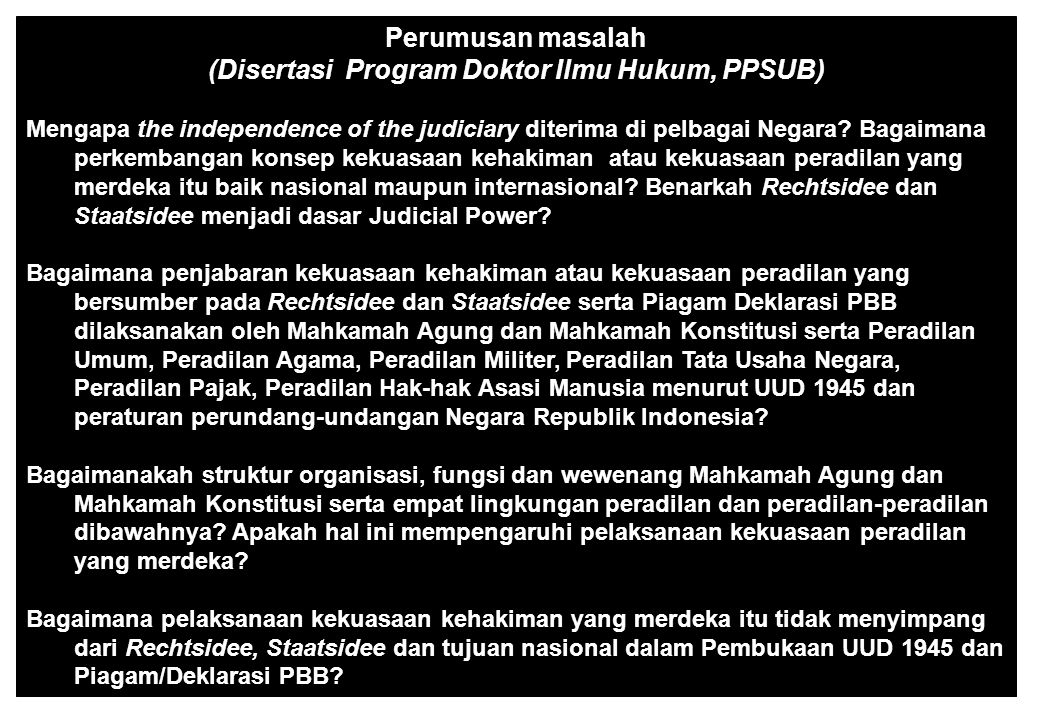 (Disertasi Program Doktor Ilmu Hukum, PPSUB)