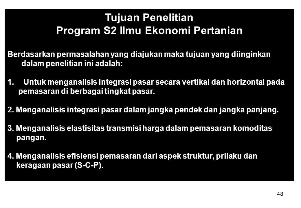 Program S2 Ilmu Ekonomi Pertanian