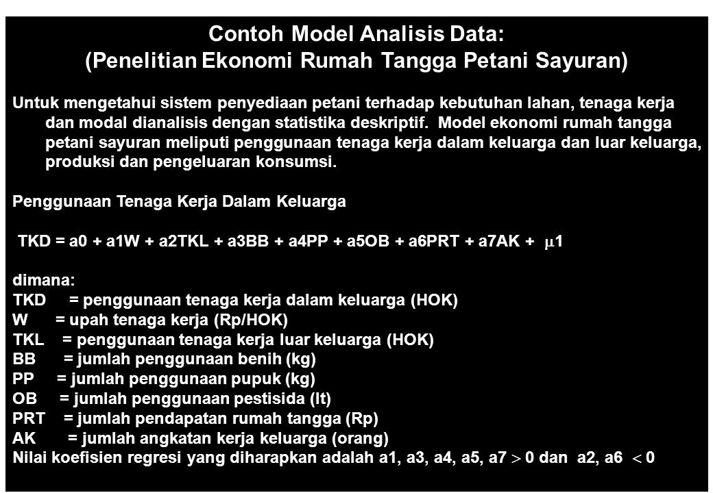 Contoh Model Analisis Data: