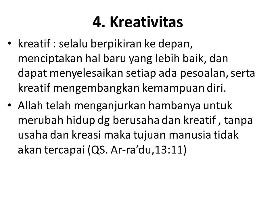 4. Kreativitas