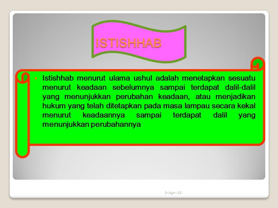 ISTISHHAB