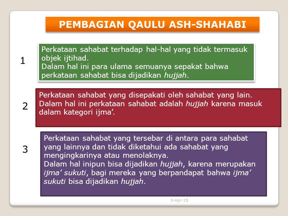 PEMBAGIAN QAULU ASH-SHAHABI